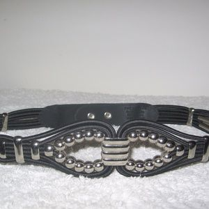 The Limited Elastic Cord and Metal Beads Snap Belt
